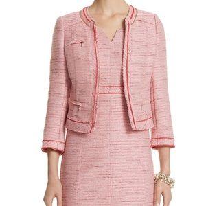 WHBM pink tweed blazer sz 2